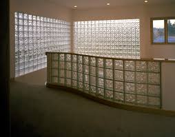 radius glass block interior partition using 8x8x4 pittsburgh corning glass block decora pattern with stylecap glass
