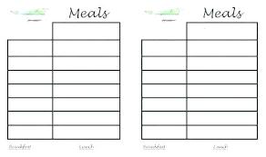 Free Printable Meal Plan Template Weekly Recipe Planner Template Atlasapp Co