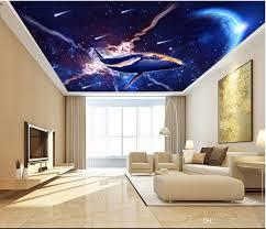 3d Ceiling Design Wallpaper 3d Ceiling Murals Wallpaper Custom Photo Dream Sky Universe Star Dolphin Living Room Home Decor 3d Wall Murals Wallpaper For Walls 3 D Desktop High