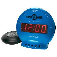 sonic alert sonic sbb500ss vibrating alarm clock in turquoise