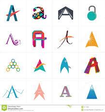 Character Logo Designer Alphabet Letter A Logo Design Stock Vector Illustration