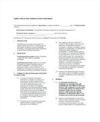 Sample Unilateral Simple Nda Agreement Template Non Disclosure