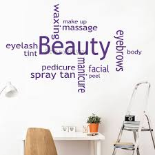 Newly Beauty Salon Wall Stickers Collage Spray Tan Nail Polish Wall Art Mural Sticker Quote Picture Wall Decals Removable Lc974