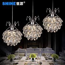 world source led three meal restaurant lights crystal chandelier lamp modern minimalist restaurant lighting lamps creative