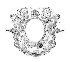 vintage frame design png. Antique Images: Free Vintage Graphic: Black And White Graphic Label Frame Design Png N
