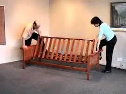 futon assembly how to assemble a futon frame bronze series by night and day you