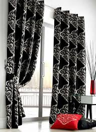Wonderful Black And White Curtains The But With Gold Design Ideas