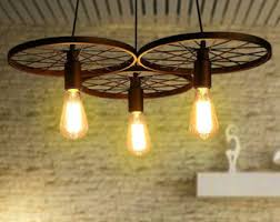 rustic industrial lighting. 3 wheels pendant light industrial lighting for bar rustic retro fixture