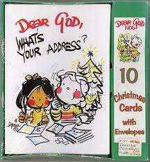 How To Address A Christmas Card Dear God Whats Your Address Christmas Cards Annie