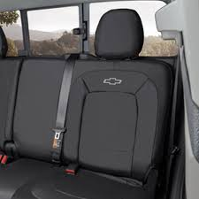 general motors seat cover black rear with bowtie logo without armrest crew cab chevrolet colorado 2016