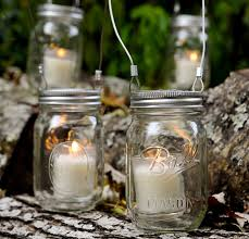 Mason Jar Candle Holders Outdoor Mason Jar Candle Holder With Wire Handle Hanging Trees Ideas