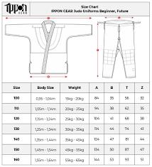 Karate Belt Size Chart Size Chart Ippon Gear Judo Gi Beginner Future Ippon Shop Com