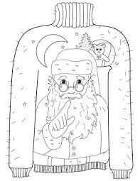 Lelijke Kersttrui Met Motief Van Een Fluisterende Kerstman