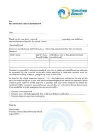 Letter Format For Vacation Leave 5 Vacation Leave Letter Templates Pdf Free Premium