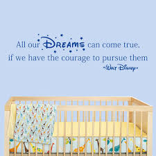 All Our Dreams Can Come True Walt Disney Quote Wall Stickers Decals