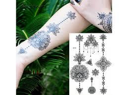 Voděodolné Dočasné Tetování Sexy Lace černá