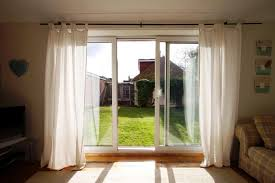 image of ikea panel curtains for sliding glass doors