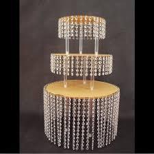 3 layer crystal acrylic wedding cake tray stand wedding centerpiece chandelier cake holder wedding cake display cupcake pan birthday party goods birthday