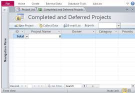 Project Management In Access Ms Access Project Management Template Merrychristmaswishes