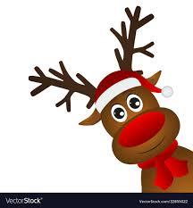 funny cartoon reindeer vector image