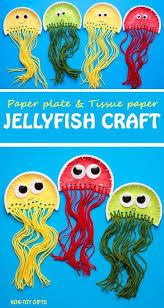 Pappteller Quallen Handwerk Für Kinder Es Verwendet