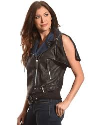 zoomed image tractr women s short sleeve leather jacket black