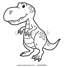 Small Picture T Rex Dinosaur Outline Stock Images Royalty Free Images Vectors