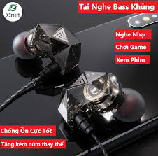Tai nghe nhét tai QKZ AK2 Pro 2020 Âm bass mạnh mẽ chất lượng âm thanh HD  nghe nhạc chơi game có micro đàm thoại, tương thích điện thoại phone, máy  tính