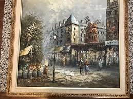 ine c burnett oil painting street of paris