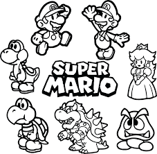 Free Mario Coloring Pages Advanced Free Printable Mario Coloring