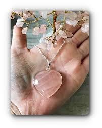 large rose quartz heart pendant