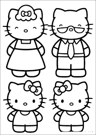 Printable hello kitty coloring pages are suitable for kids of all ages. Photos Hello Kitty And Family Coloring Pages Hello Kitty Coloring Hello Kitty Colouring Pages Kitty Coloring
