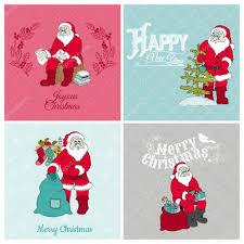 Scrapbooking Christmas Cards Designs Santa Claus Christmas Cards For Design And Scrapbook
