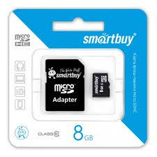 <b>Карта памяти</b> micro SDHC <b>8Gb</b> SmartBuy Class 10 + ADP ...