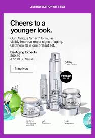 cheers to a younger look our clinique smart formulas visibly improve major signs of