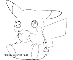 coloring page free pages of for cute pikachu pokemon and friends coloring pages