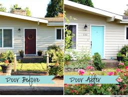 painting front doorPainted Front Door Before  After  Cottage Magpie