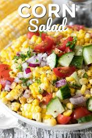 fresh corn salad spend with pennies