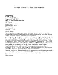 Application Letter Sample For Electrical Engineer Cover Letter