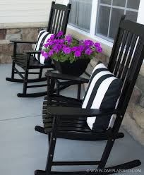 the porch furniture. I Love The Black! Can Spraypaint My Rocker Black--Neat! Porch Furniture