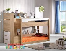 NEW Springbrook Low Line Bunk Bed  OakWhite