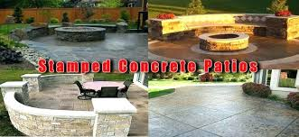 per square foot stamped concrete vs cost patio pavers