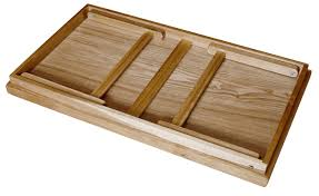 Acacia Breakfast Bed Serving Tray with Handle Foldable Leg