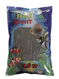 <b>Грунт Эко грунт 3 5mm</b> 3 5kg Black Crystal г 0124 - ElfaBrest
