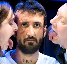 Marat/Sade with Lisa Hammond as Herald, Arsher Ali as Jean Paul Marat and - article-0-0E74B6A800000578-567_468x448