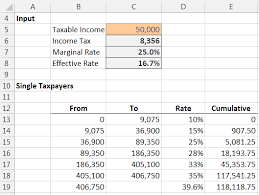 Taxes Spreadsheet Income Tax Formula Excel University