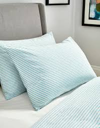 aqua stripe housewife pillowcase