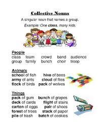 Chart Of Collective Noun Collective Nouns Anchor Chart