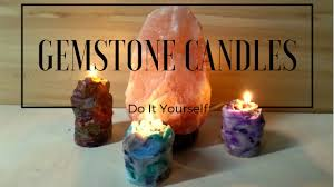 Diy Candles Diy Large Gemstone Candles Crystal Candle Tutorial By Fluffy
