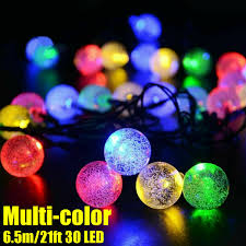 Ideaworks Round Solar Lights Details About 20ft 30 Led Solar String Ball Lights Outdoor Waterproof Warm White Garden Decor